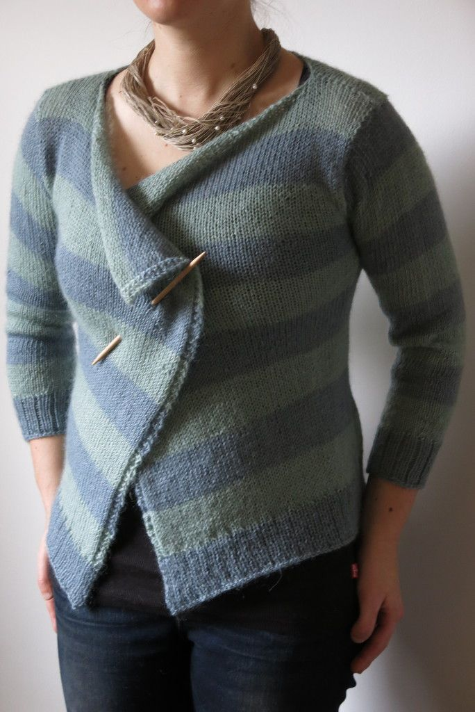 Moseley in Spring Striped Cardigan Knitting Pattern by Littletheorem ...