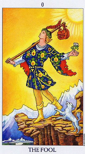 The Fool Radiant Rider Waite Tarot Tarot 0 The Fool