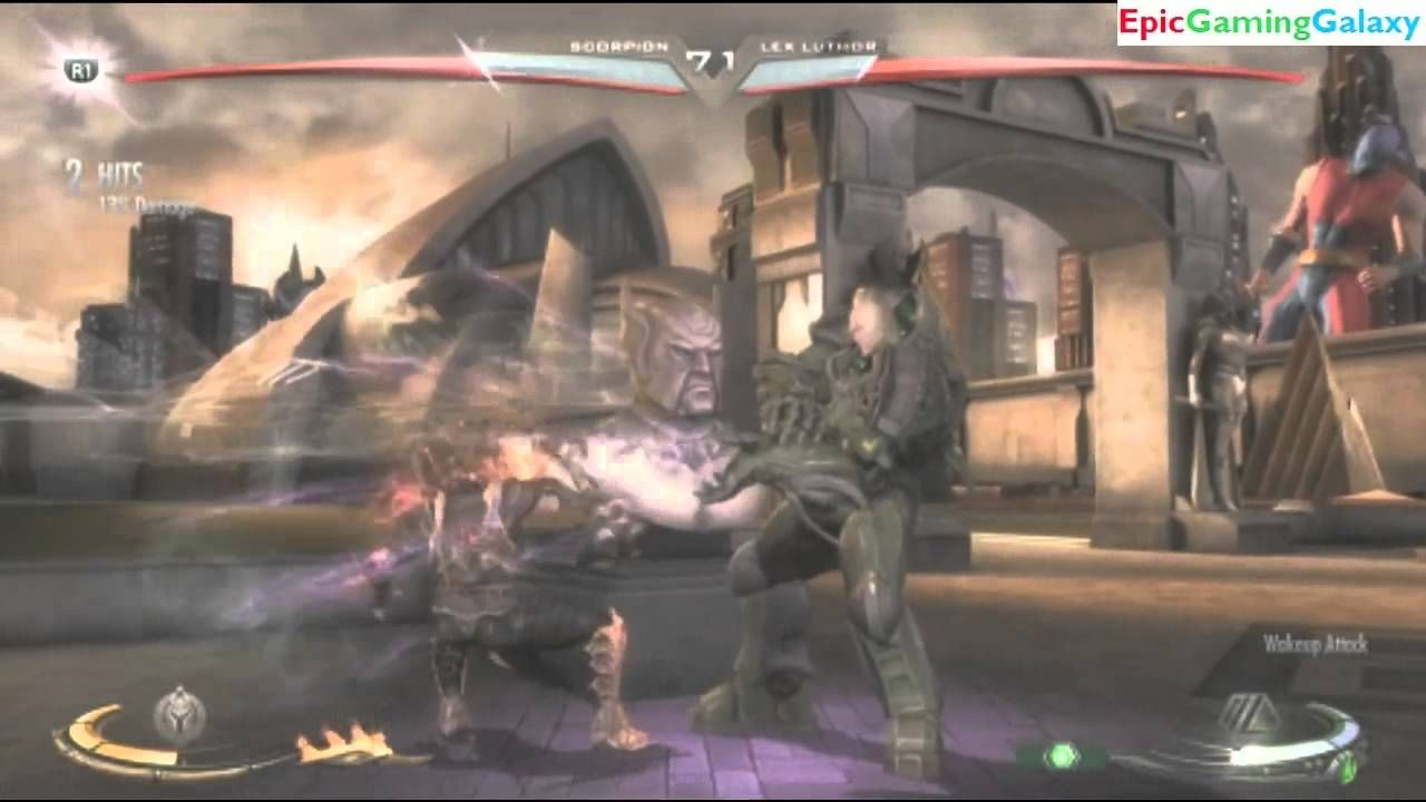 Scorpion Vs Lex Luthor In A Injustice Gods Among Us Ultimate Edition Match Battle Fight This Video Showcases Gameplay Of Battle Fight Lex Luthor Nightwing
