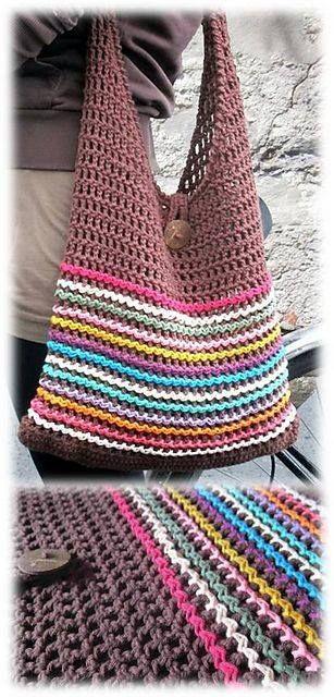 nice bag shape not too slouchy   Crochet ideas   Pinterest