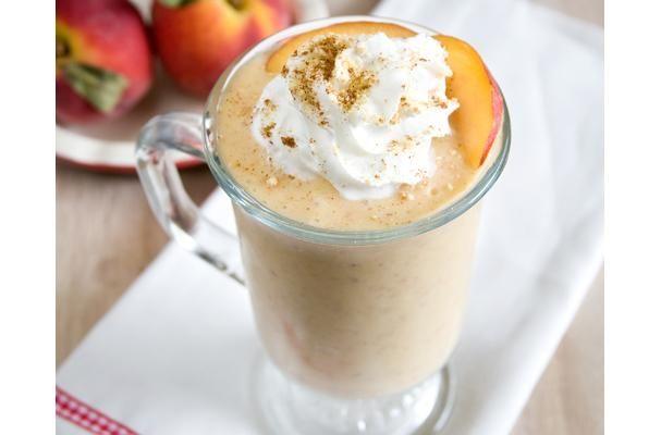 Brown Butter Peach Milkshake Chocolate With Grace Peach Milkshake Brown Butter Frozen Treats Recipes