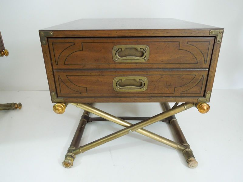 Mid Century Hollywood Regency wood gilded side end table ...