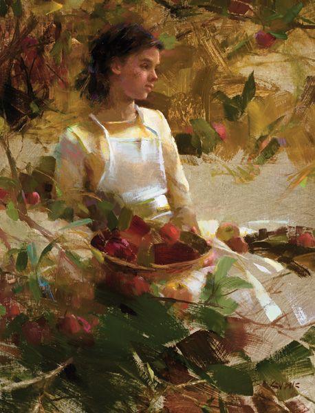 Nancy Guzik, Autumn Grace, oil, 14 x 11