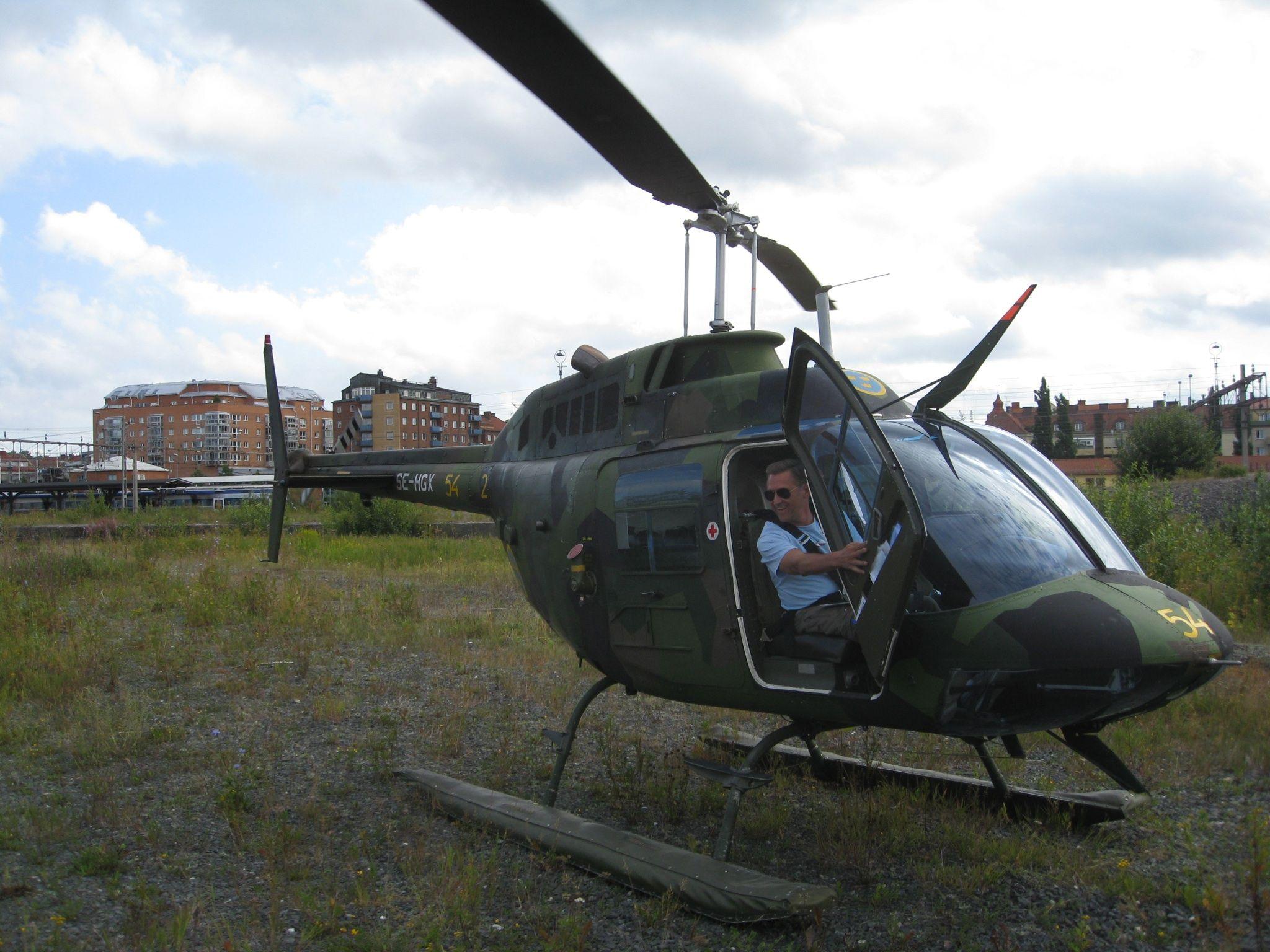 Jetranger 206 designated HKP 6 owner Swedish Air Force Museum ...