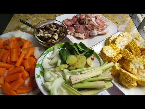 Pork Bone Soup With Mixed Vegetables Asian At Home Khmer Pork Bone Soup Mixed Vegetables Bone Soup