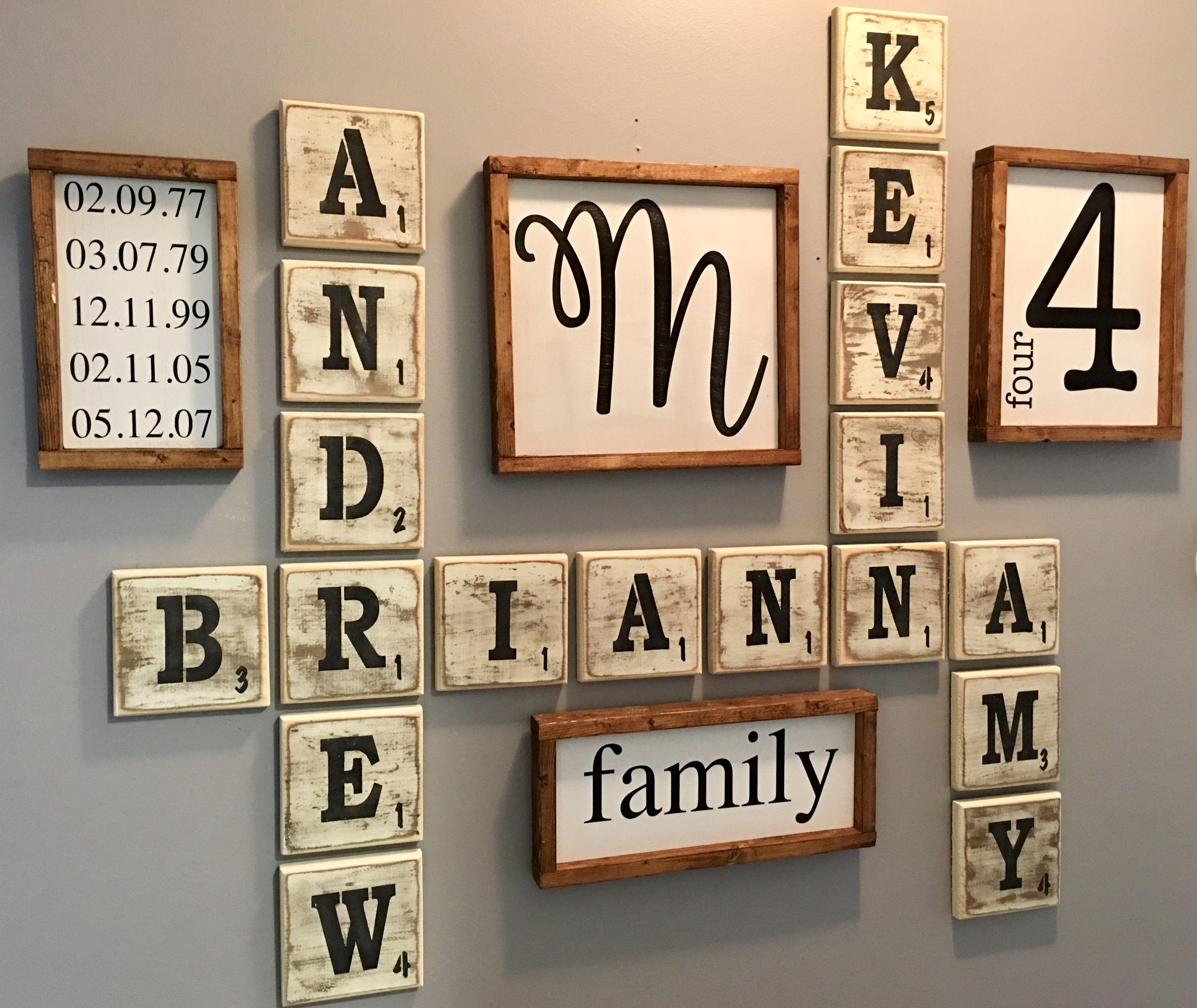 Farmhouse Scrabble Wall Decor Family Wall Decor Family Wall Art