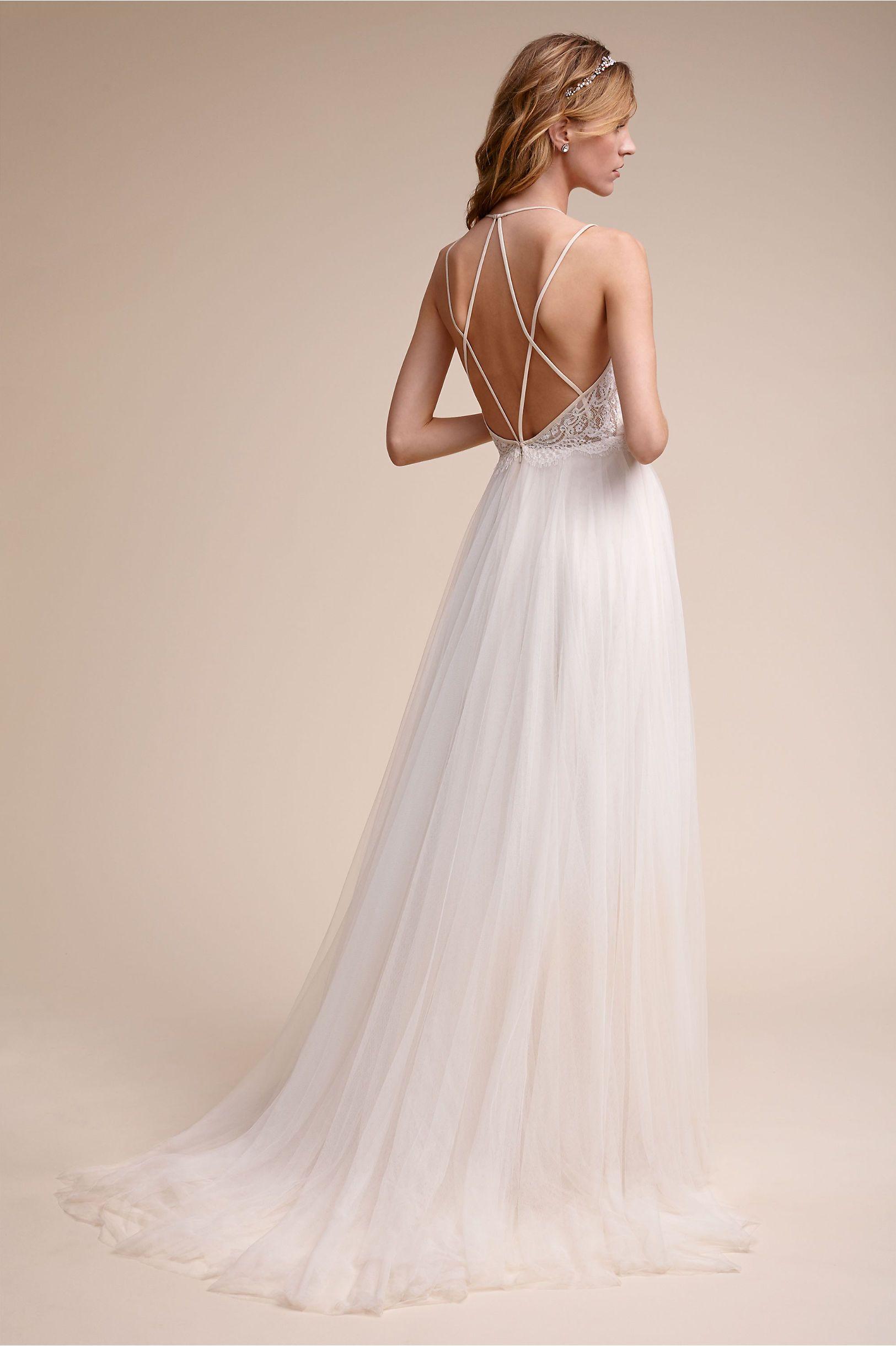 BHLDN Rosalind Gown in Bride Wedding Dresses Back Detail | BHLDN