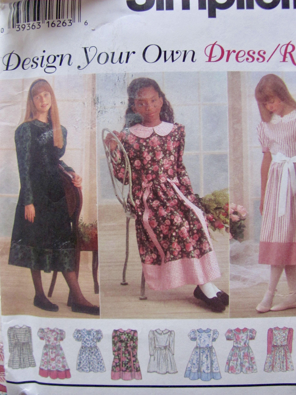 Girlus dress full skirt gathered to bodice at waistline seam knee