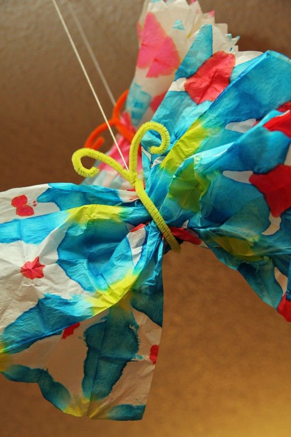 Use Tissue Paper Food Coloring Pipe Cleaners And Crafts For PreschoolersCrafts