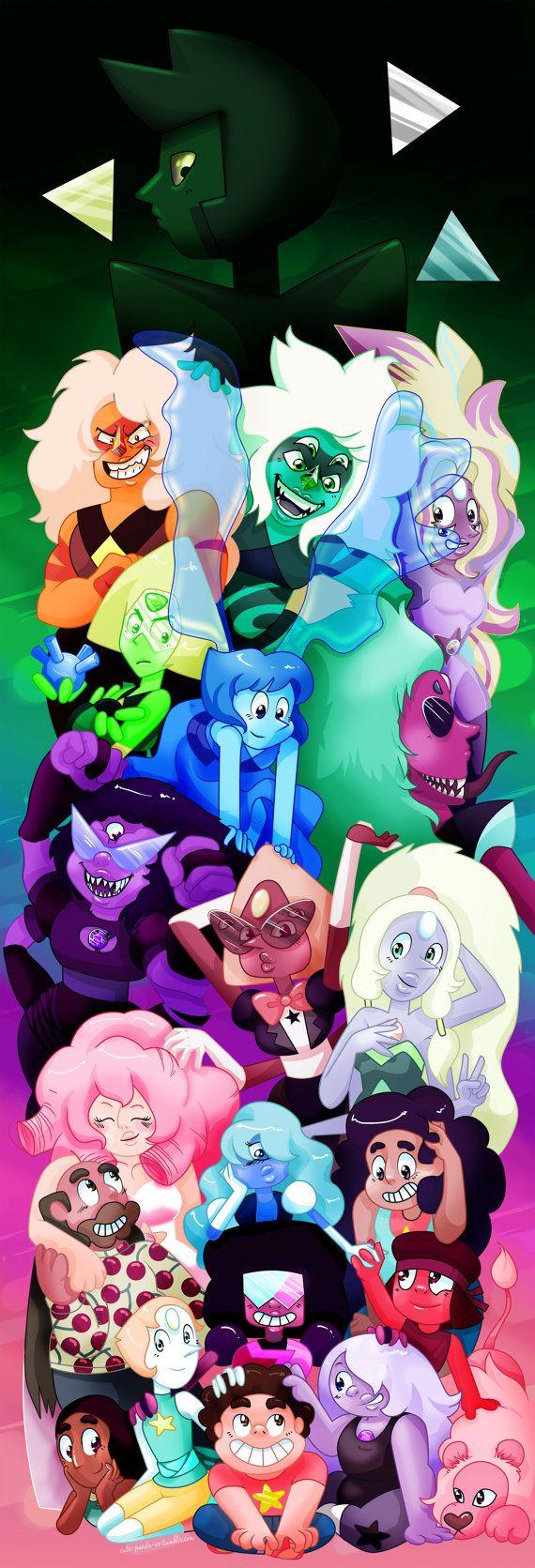 Steven Universe All Character Poster Steven Universe Crystal Gems Steven Universe Cute Panda