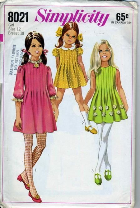 Simplicity 8021 A | vintage little girl | Pinterest | Vintage ...