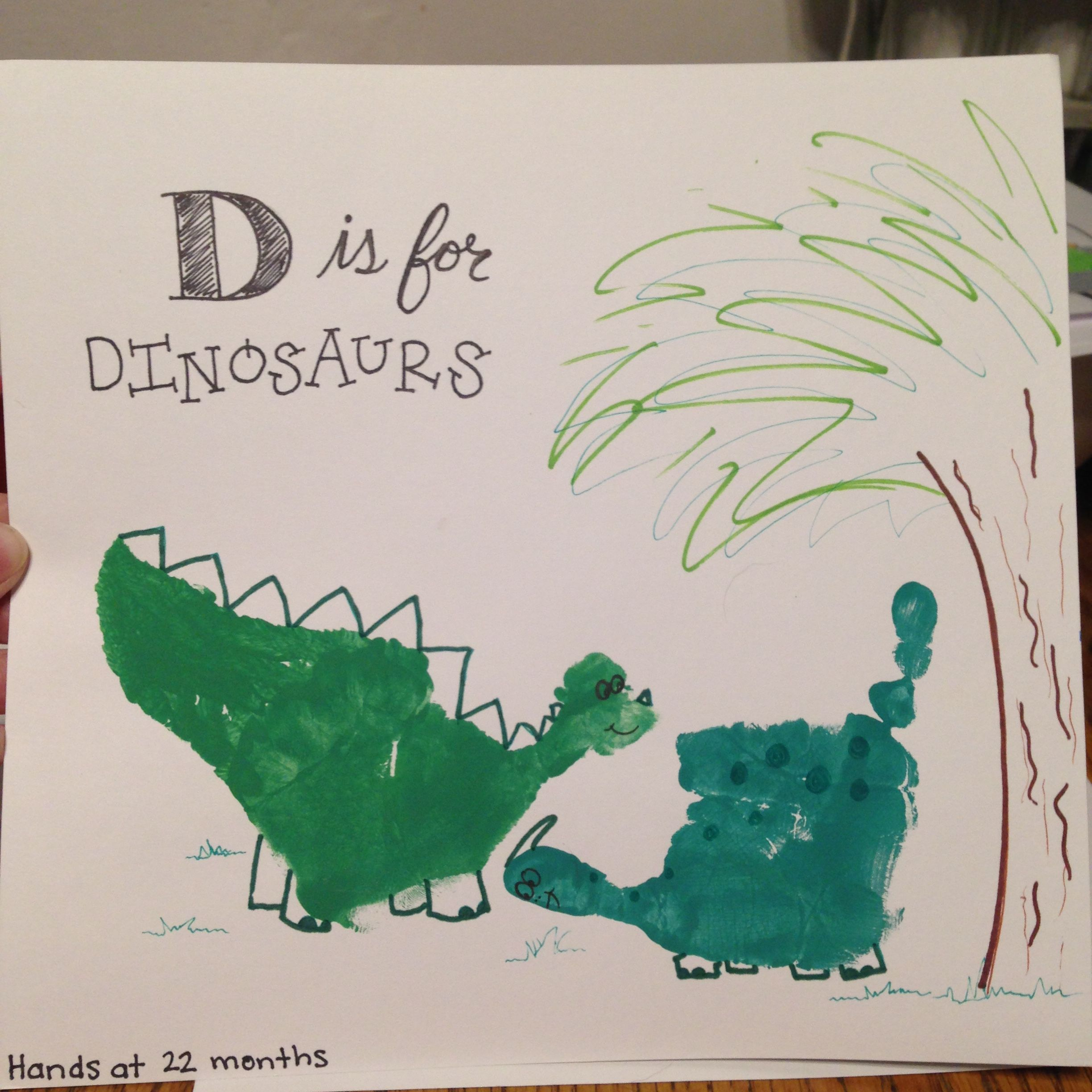 D Is For Dinosaurs Handprints With Images