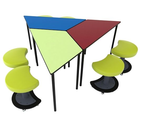 Class buddy trapezoid table nz 206 epic school 1 for Trapezoid table