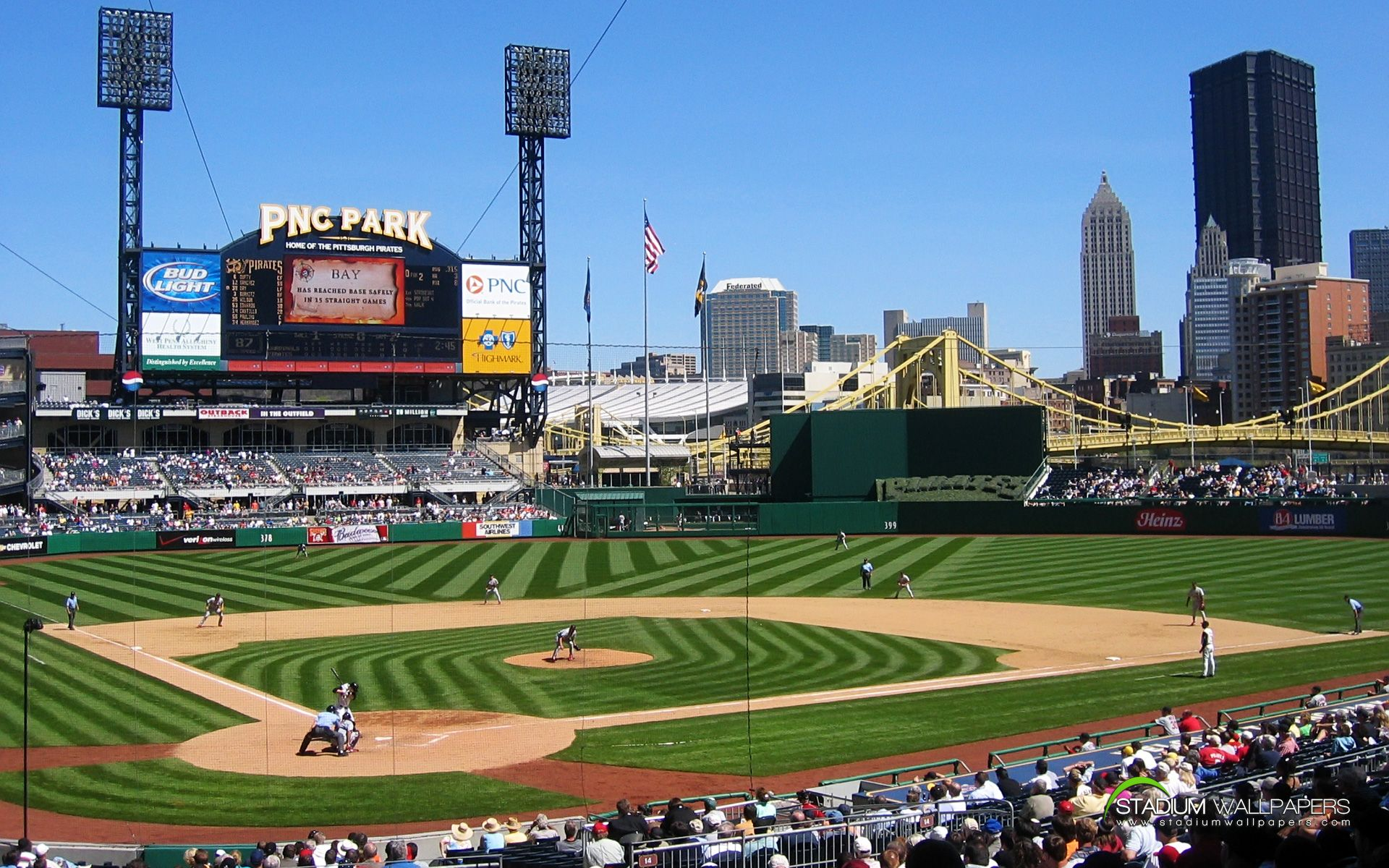 Wallpapers Mlb Baseball Stadium 1920x1200 Baseball Stadium Pnc Park Pittsburgh Pirates Baseball