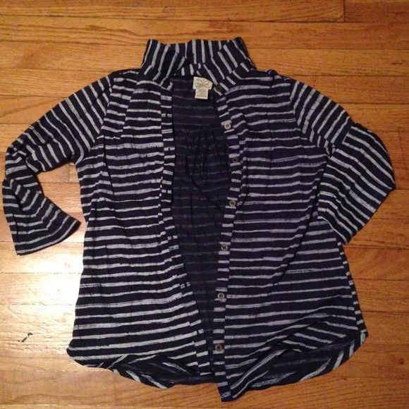 Navy blue striped Cardigan Good condition. Charlotte Russe Sweaters Cardigans