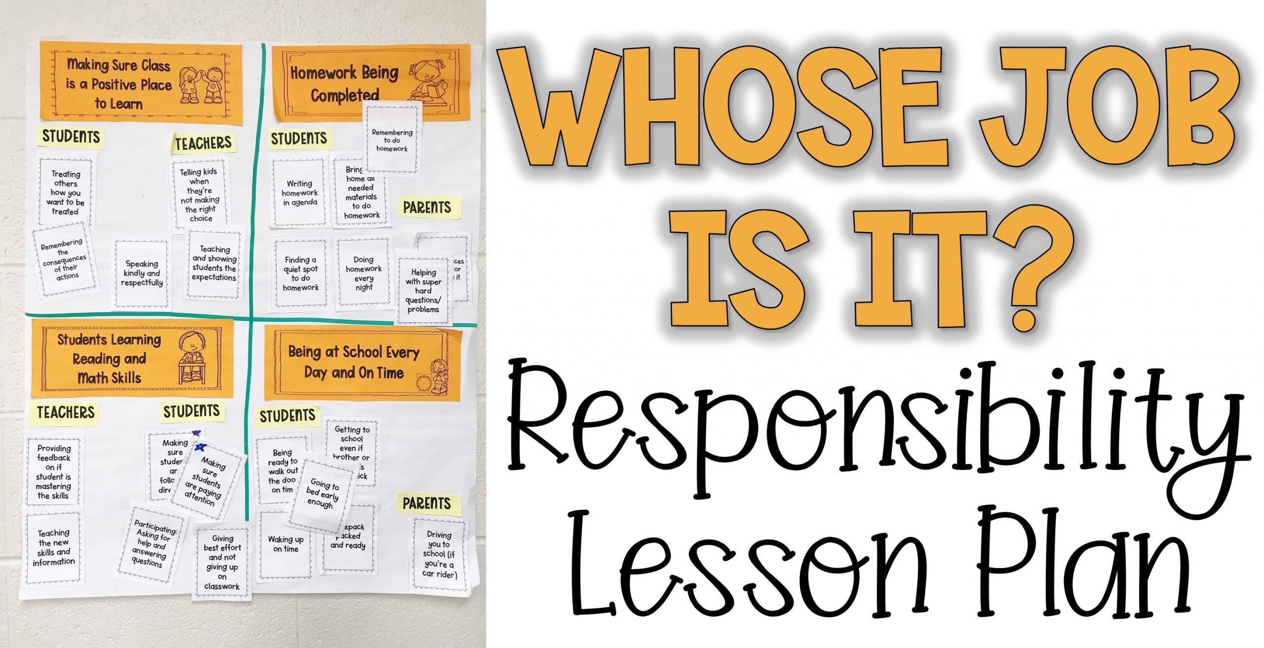 Whose Job Is It Responsibility Lesson Plan In