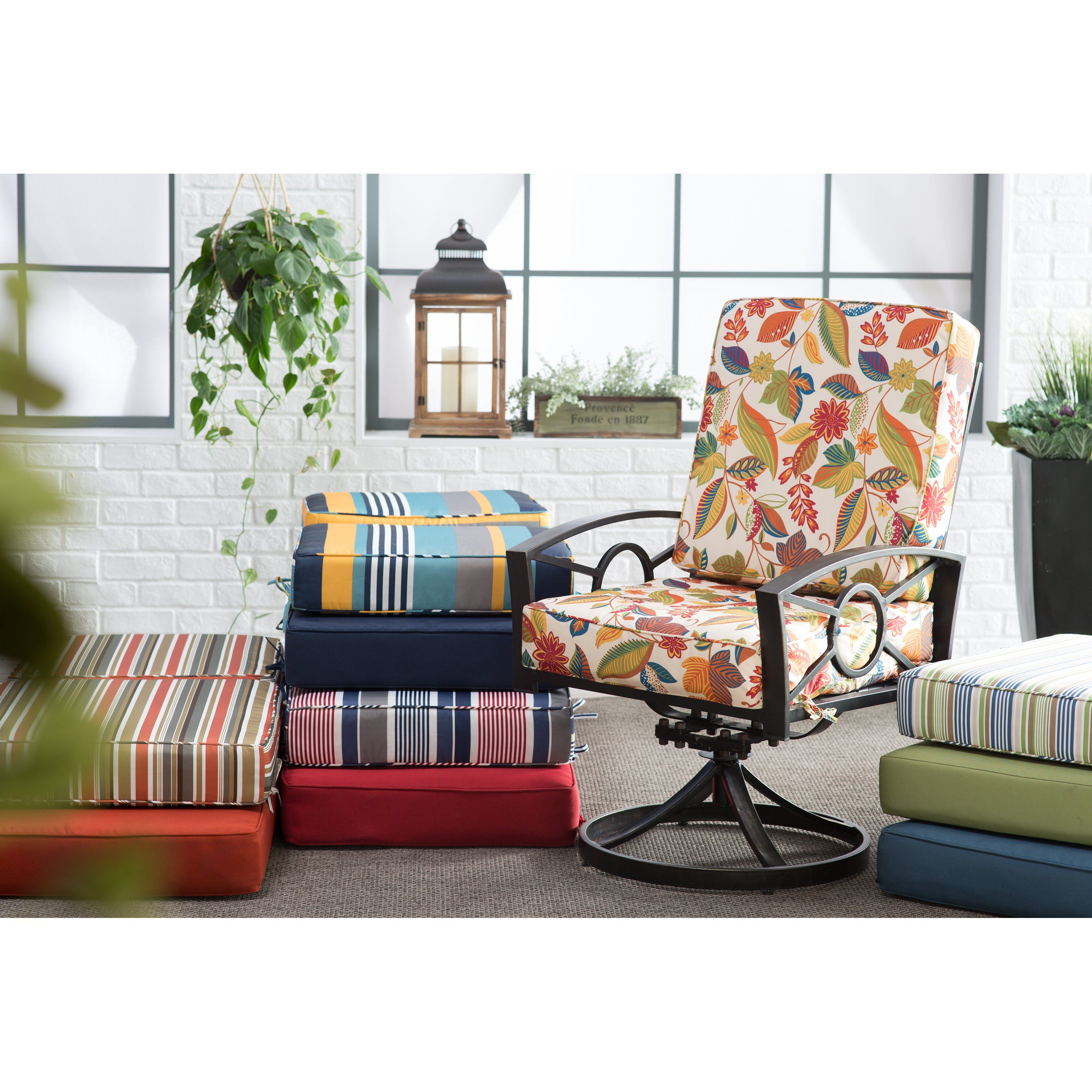 Coral Coast Classic Hinged Outdoor Deep Seating Cushion | From Hayneedle.com