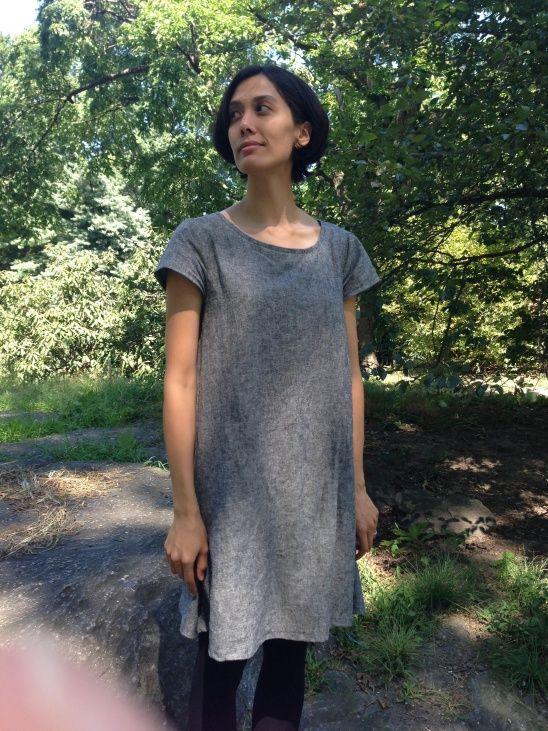 Linen Tent Dress (Tessuti\'s Gabby Pattern) by Sachi   Pinterest   Nähen