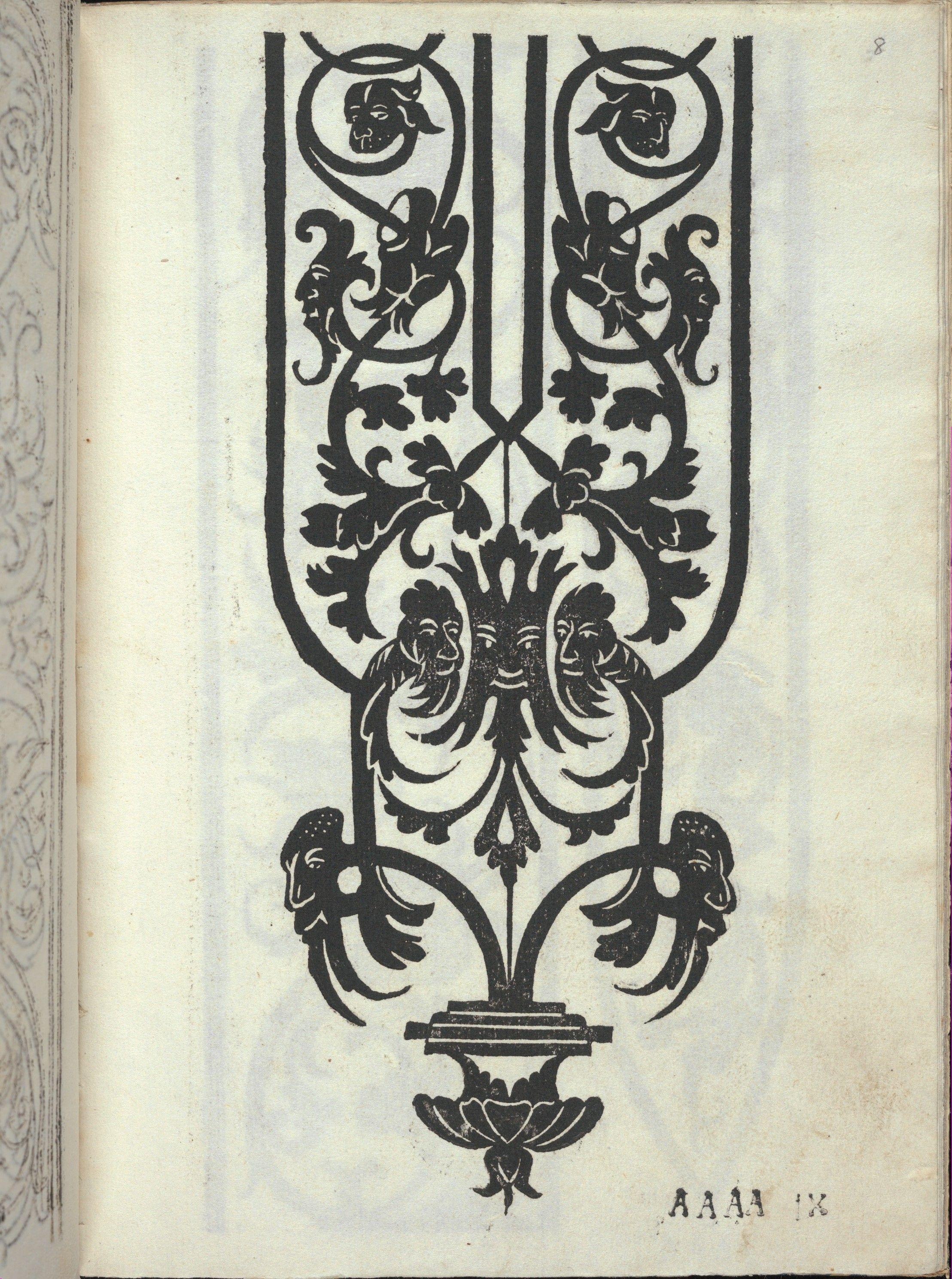 Alessandro Paganino   Libro quarto. De rechami per elquale se impara in diuersi modi lordine e il modo de recamare...Opera noua, page 8 (recto)   The Met