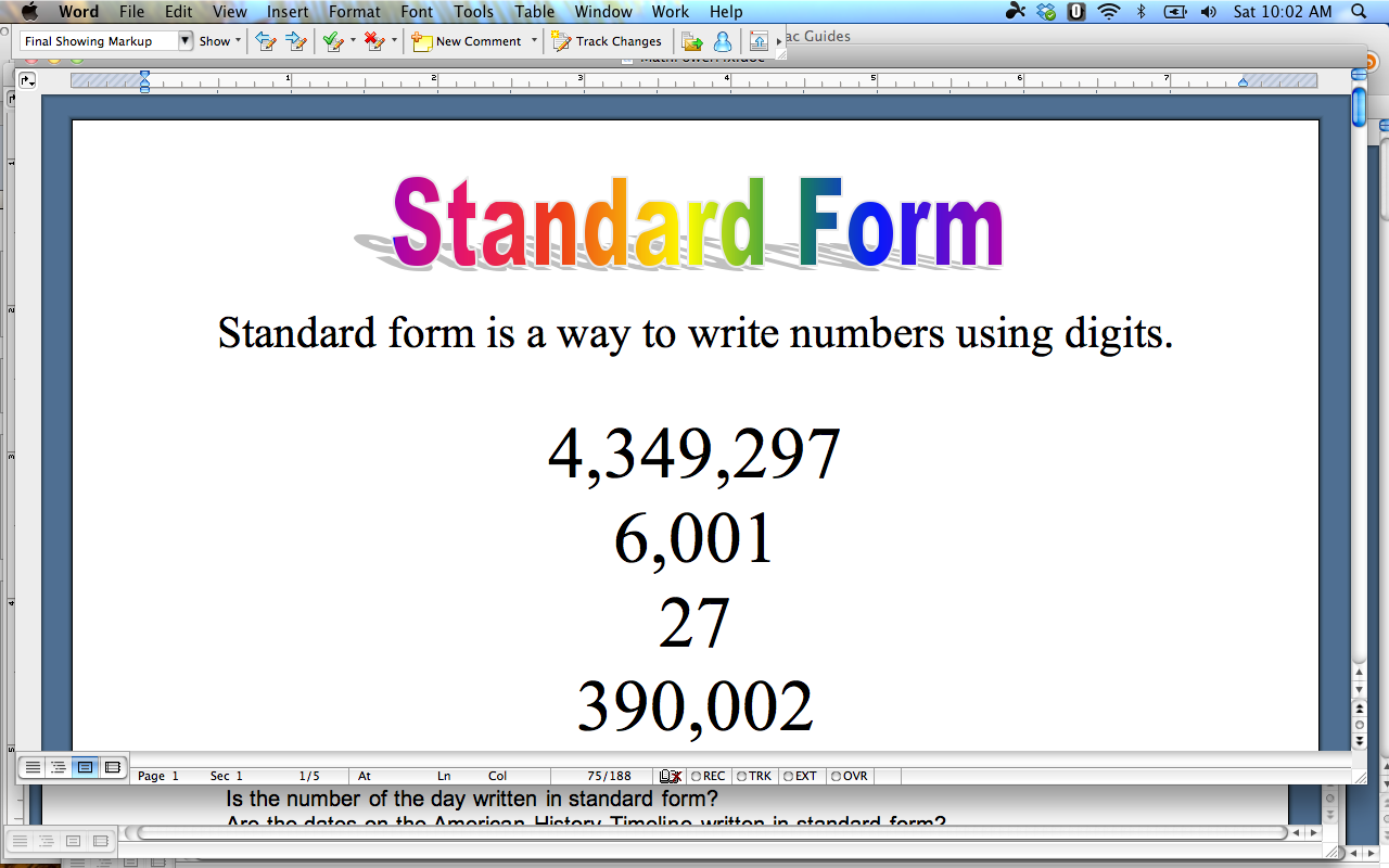 Standard Form Definition Standard Form Definition Will Be