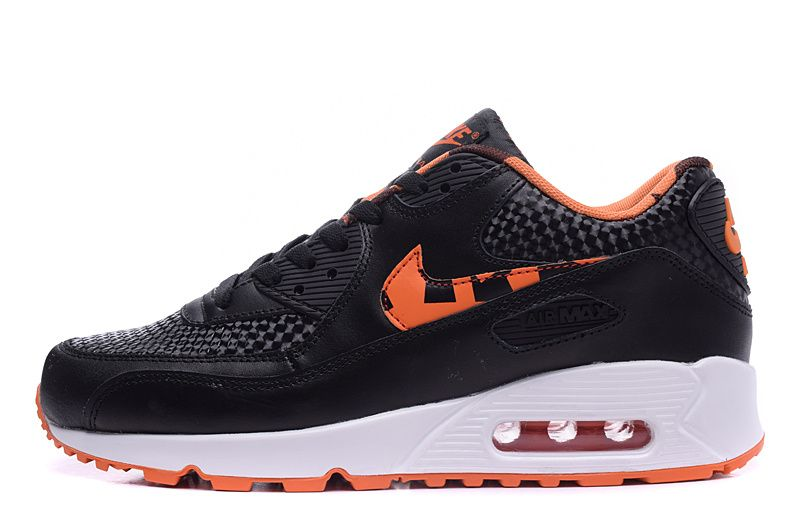Nike Air Max 90 Limited Edition Women Black White Orange Running Shoes Sneakers Men Fashion Running Shoes For Men Mens Boots Fashion