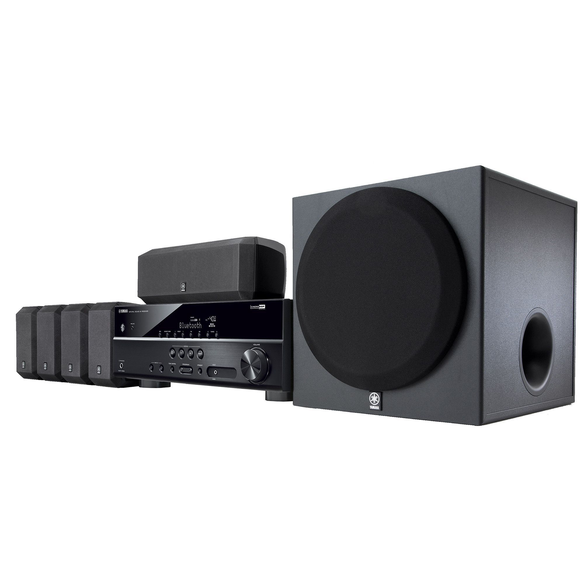 Yamaha Yht 3920ubl 5 1 Channel Home Theater In A Box System Home