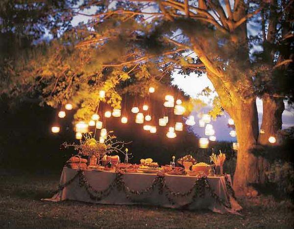 Garten Party Zum Geburtstag Ideen Nacht Beleuchtung | Dawanda ... Dekoration Fur Gartenparty Ideen