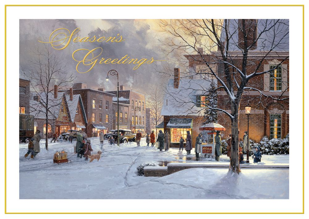 holiday village vintage christmas cards discount greeting cards