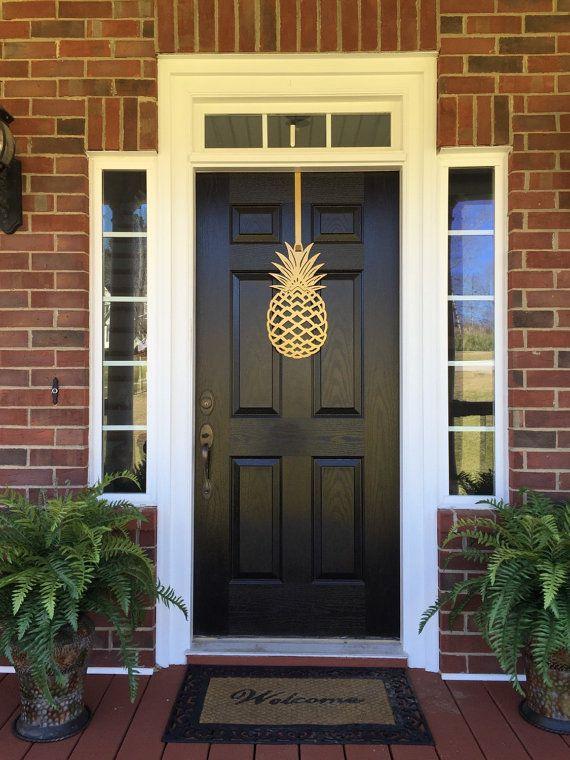 Pineapple, Front Door Wreath, Front Door Decor, Pineapple Decor, Door  Hangers, Elegant Door Wreath, Door Decorations, Outdoor Wreath Copyright Of  ...