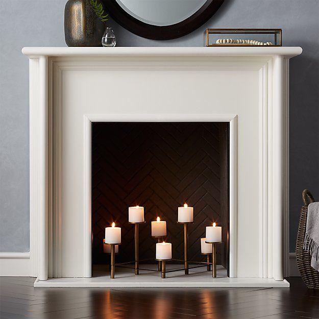 Brass Fireplace Candelabra In 2019 Fireplace Mantle Fireplace