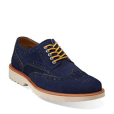 fulham limit navy suede  26100053 clarksusa  shoes