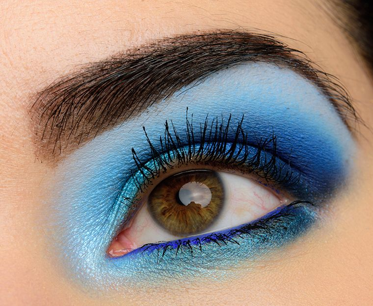 A Glowing Blue Eye with Make Up For Ever Artist Color