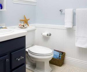 architecture: wainscoting small bathroom awesome in ideas