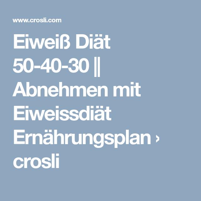 Eiweiss Diat 50 40 30 Abnehmen Mit Eiweissdiat Ernahrungsplan