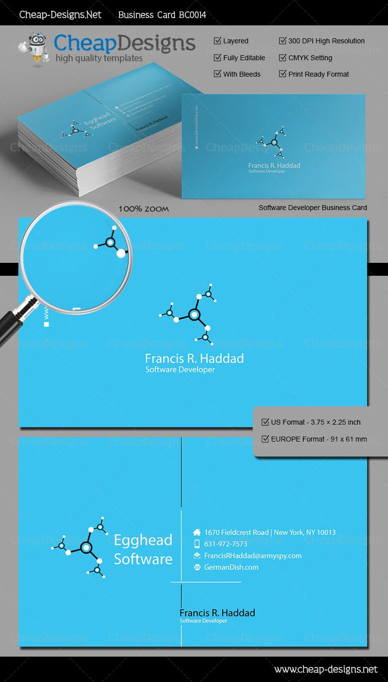 Software Developer Business Card Template - Choose this template ...