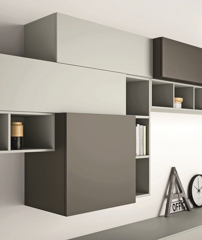 Sectional lacquered storage wall SLIM 89 by Dall\'Agnese | #design ...