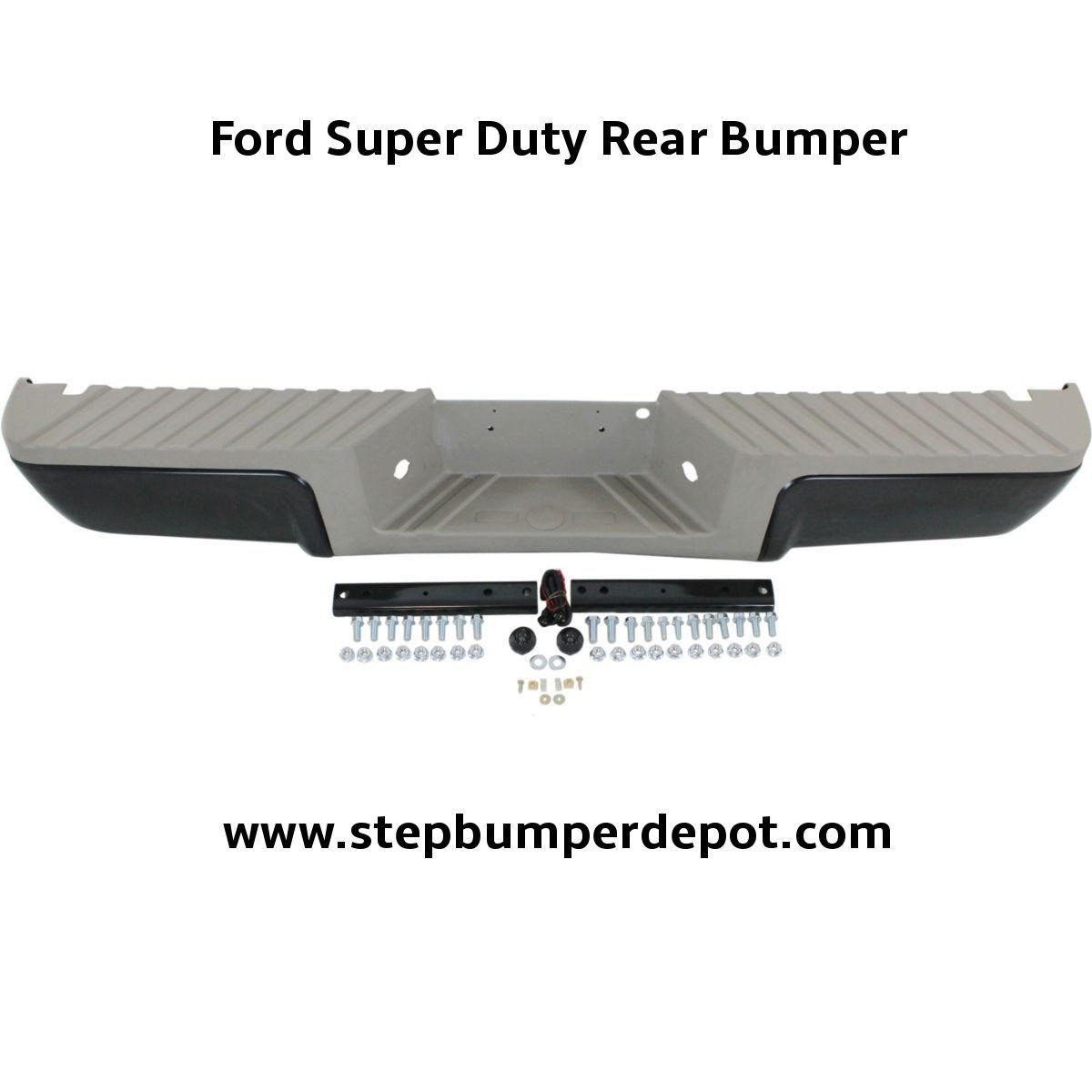 Oem Replacement Rear Bumper With Gold Pads For Ford Super Duty 2008 2016 Ford Super Duty Truck Bumpers Bumpers