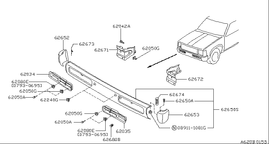 Replacement Front Bumper 1995 Nissan Pathfinder Oem Parts Nalley Nissan Of Atlanta Nissan Accessories Nissan Bumpers
