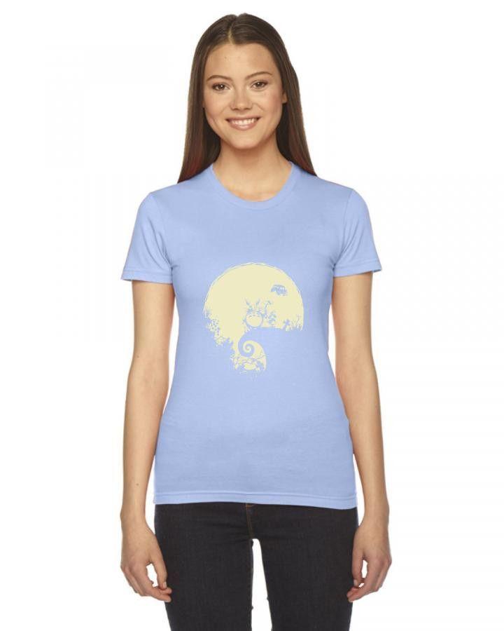 totoro pesadilla estudio ghibli dibujos animados Ladies Fitted T-Shirt