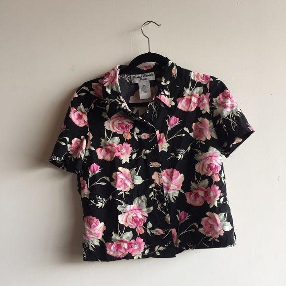 1990\u2019s Vintage ELEPHANT Ethnic Shirt BATIK Floral shirt Blouse Button Hawaiian Vibes Small Loose fit by Cricket Lane Retro Oversized Top