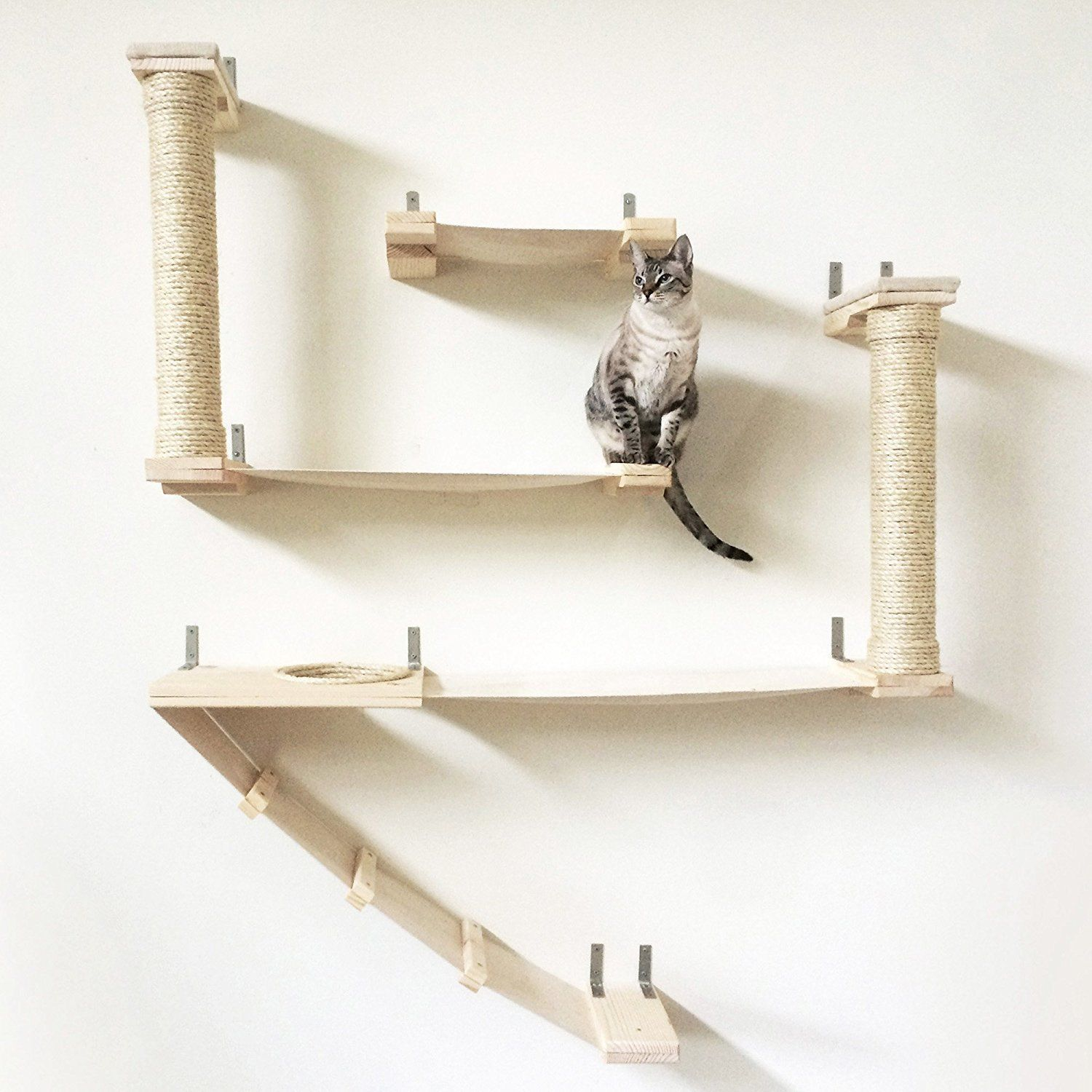 Catastrophicreations The Roman Cat Fort Hammock Climbing Activity Wall Mounted