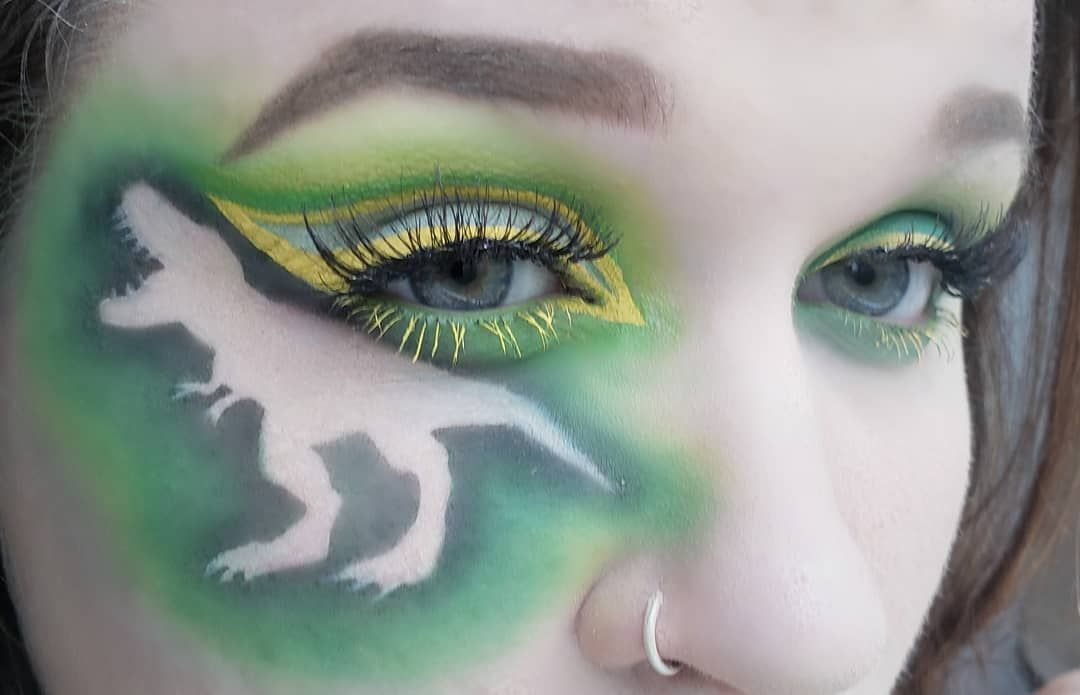 Dinosaur Eye Makeup Art Face Paint