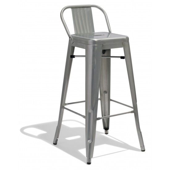 Tremendous Low Back Counter Stool From Industry West Stools Bar Customarchery Wood Chair Design Ideas Customarcherynet