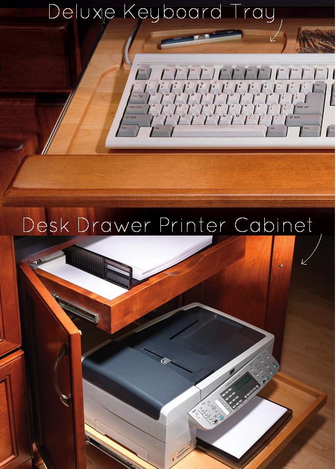 Delux Keyboard Tray Desk Drawer Printer Cabinet Dewils
