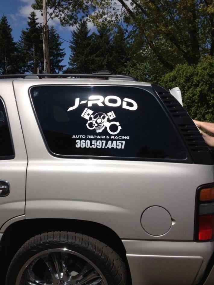 Window decals for j rod repair racing vancouver wa
