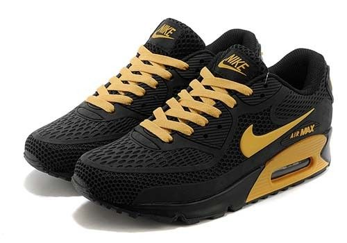 Air Max 90 Mens Shoes Cheap On Sale Golden Black