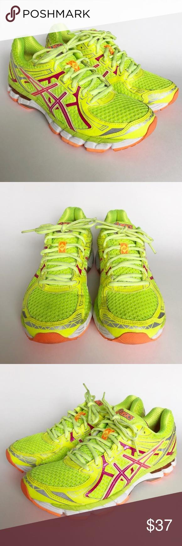 Asics Gel GT 2000 Neon Yellow Running Sneaker 8 Neon