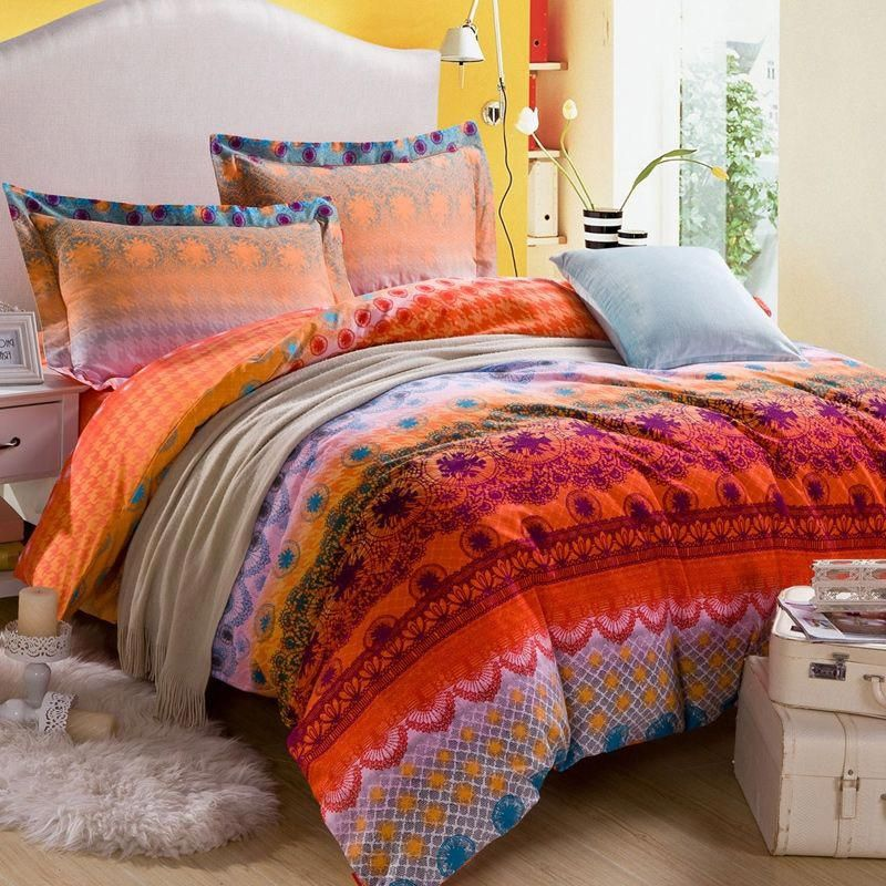 Orange and Coral Red Bohemian Tribal Pattern Indian Style