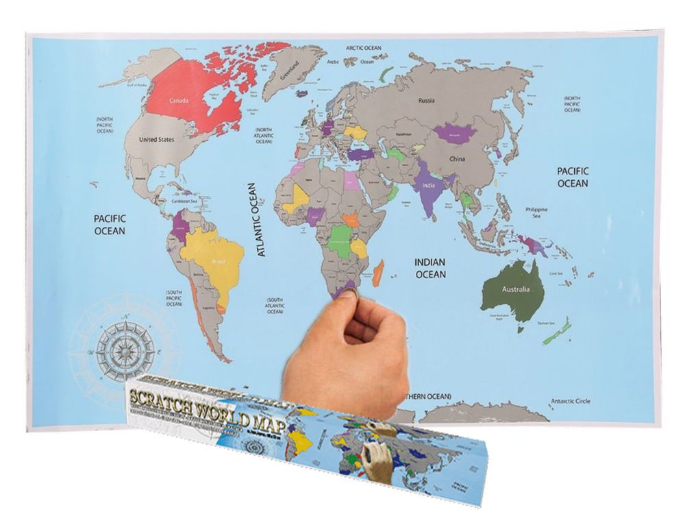 Large scratch off world map poster personalized travel vacation large scratch off world map poster personalized travel vacation personal gift ebay gumiabroncs Choice Image