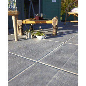 Carrelage sol anthracite effet bois River l45 x L45 cm Leroy - photo terrasse carrelage gris